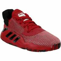 adidas Sm Pro Bounce 2019 Low Team Mens Basketball Sneakers Shoes Casual   - Red