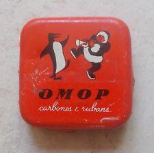 Boite Collection Metal OMOP Carbones & Rubans Esquimau Pingouin 1930 Rouge RARE