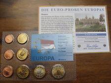 The Euro Samples of Europe RARE MONACO 2008 Set of Coins 1 Cent to 2 Euros