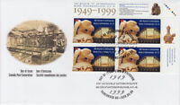 CANADA #1778 46¢ UBC MUSEUM OF ANTHROPOLOGY UR PLATE BLOCK FIRST DAY COVER