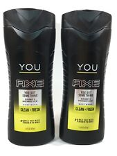 2 AXE You Got Something Clean + Fresh Body Wash Bergamot & Amberwood Scent 16 oz
