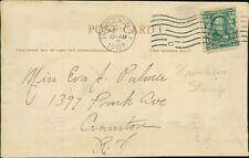 Eva A Palmer. 1397 Park Avenue, Cranston, Rhode Island. 1907.  RN.877
