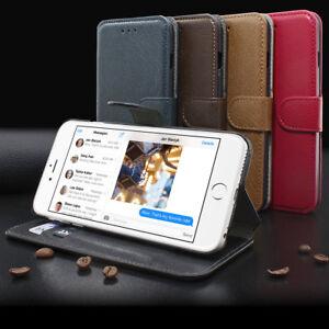 Apple iPhone 6 / 6 Plus Book-Style mit 2 Karten Fächern Leder-Imitat Handytasche