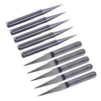 10X Gravierstichel 0.1mm 10° Fräser 3,175mm Gravurstichel V-Typ Bits für PCB CNC