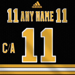Boston Bruins Adidas Dark Jersey Custom Any Name Any Number Pro Lettering Kit