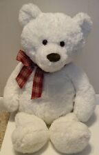 "G-5.0 GUND White Plush Teddy Bear Stuffed Animal 26"""