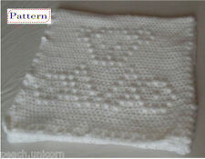 CROCHET PATTERN for Teddy Bear Squares one-piece Baby Blanket by Peach Unicorn