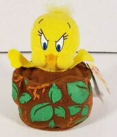"Tweety Bird Slammer  Plush Beanie Stuffed Animal Applause Looney Tunes 5"" 1998"