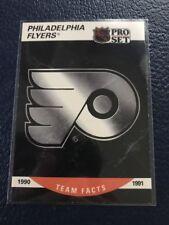 1990-91 Pro Set #579  Philadelphia Flyers Team Hockey Card  NM-MT w/Top Loader