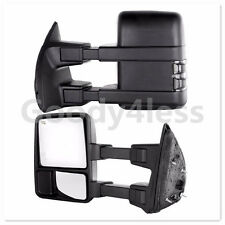 99-07 Ford F250 Super Duty Tow Mirror Power Heated SMOKE LED Turn Signal Lights