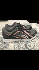 Women's 8 Ryka Grey and pink Tennis Shoes With Memory Foam, walking shoes