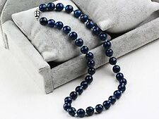 Blue Agate gemstone With Magnetic Clasp Necklace Length 48cm/19""