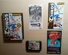 Sonic 2 The Hedgehog Sega Mega Drive COMPLETE TESTED 100% works ASIAN VERSION