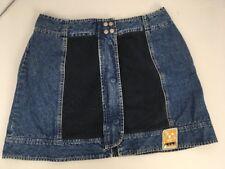 VTG 90s Pepe Jeans London Smartie Skirt Jean Denim Skirt 28 Patches Mini Grunge