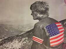 Easy Rider Blacklight Poster Easy Peter Fonda US Flag leather jacket 1970's