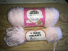 Red Heart Baby Clouds Pale Pink Color 100% Acrylic Soft Yarn 8.7 Ounce
