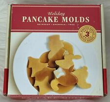 William Sonoma Christmas Holiday Pancake Molds Santa Reindeer Tree 2003