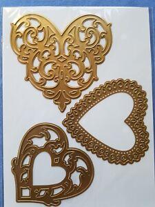 Anna Griffin Valentine Doily Cut Emboss Die Card Making 3 Hearts