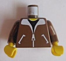 Lego BOMBER JACKET TORSO Only MInifigure Part - Brown- WWII Aviator Pilot