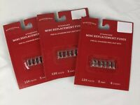 3 Packs of 6 Replacement fuses 3 amp 120 Volts Christmas Mini Light Bulb Fuses