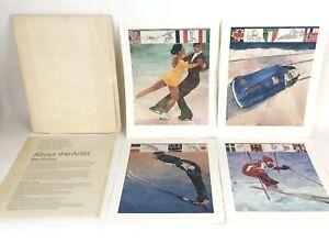 1980 Winter Olympics XIII Commemorative Prints Set of 4 Lake Placid, NY