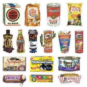 Spoof Snack Food Funny Vinyl Stickers