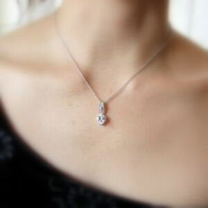 Flaming Heart Sterling Silver and Cubic Zirconia Necklace