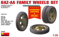 Miniart 35099 - 1/35 Scale Gaz-AA Family Wheels Set WW II Plastic Model Kit