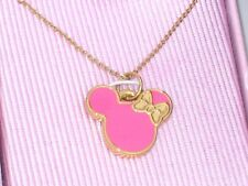 New Disney Parks Authentic Necklace✿Minnie Mouse Classic Bow Ears Icon Pink +Box