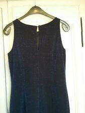 NEXT MAXI DRESS. SPARKLY MIDNIGHT BLUE . SIZE 10. SLEEVELESS.  SIDE SPLIT. ...