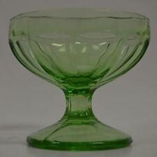 Green Glass Sherbert Dessert Bowl Trinket Dish