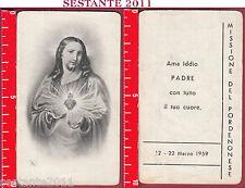 2012 SANTINO HOLY CARD SACRO CUORE GESù CRISTO EB 170 MISSIONE DEL PORDENONESE