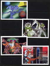 ALIEN SIGHTINGS SET OF 8 MINT COMPLETE SOUVENIR SHEETS FROM NICARAGUA!
