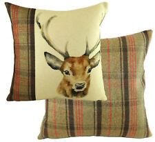 "Evans Lichfield Hunter Highland Stag Deer Hand Painted Animals Cushion 17""- 43cm"