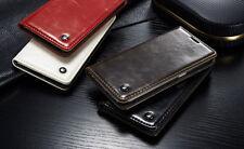 For Samsung Galaxy S6- Leather Matt Wallet Case -White