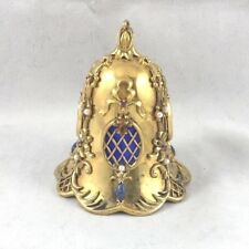 Great FM Franklin Mint Sterling Faberge Gold Toned Jeweled Bell / Ornament