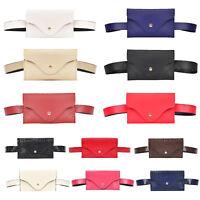 Women Waist Pack Bag Sports Travel Belt Pouch Wallet Classic PU Leather Purse