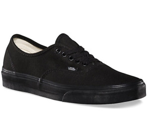 VANS Authentic Mens Canvas Casual Shoes Sneaker Black/Black --Size Up To 16US
