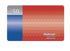 $50 Walmart Gift Card No Fees or Expiration Date No Cost to Reload in Stores
