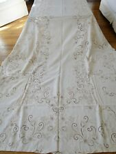 Antique Linen - Ornate Madeira Banquet Tablecloth W/Napkins