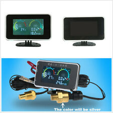 3 In 1 12V/24V Car LCD Oil Pressure+Voltmeter+Water Temperature Gauge w/Sensors