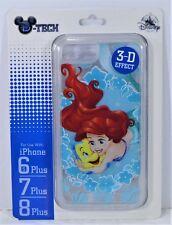 Disney Ariel Little Mermaid 3-D Effect Apple Iphone 6S/7/8 Plus Clear Case NEW