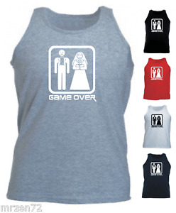 GAME OVER custom funny tank top athletic vest