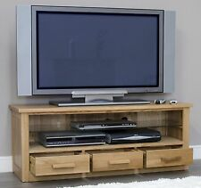 Arden solid oak TV television cabinet stand unit living room furniture