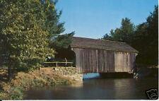 Covered Bridge at Old Sturbridge Village, MA postcard