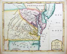 More details for america  virginia  maryland  by de laporte  c1786  scarce genuine antique map