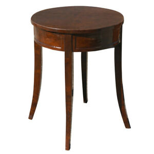 "24"" Art Deco Burl Round Table Lamp (MR10473)"