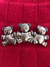 "Vintage ""TRIPLET BEARS"" FRENCH BARRETT"