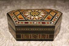 Gioielli Box, gioielli CASSETTA, forza a mano con madreperla, legno mosaico arte, in Siria