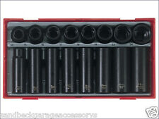 Teng Tools 16 Piece Metric Standard & Deep Impact Socket Set Modular Tray TT9116